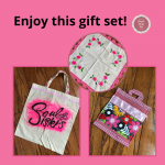 A Soul Sisters bag, Mexican doily & a homemade potholder